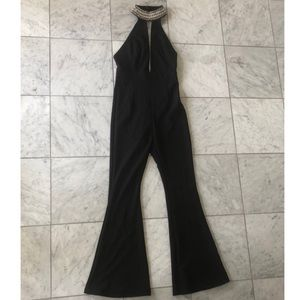 Black Backless Jumpsuit- Small